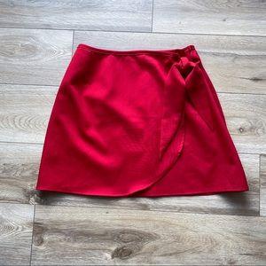 Le Chateau Vintage Wrap Mini Skirt Size Small